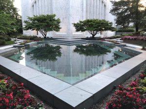 Reflecting pool at Portland LDS Temple, Lake Oswego, OR.