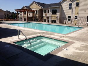 Finished pool and spa.