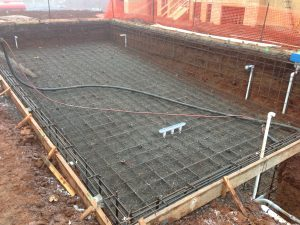 20' X 40' Oregon City pool plumbed, reinforced, and ready for concrete.